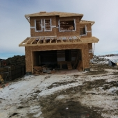 Showhome construction at Glenridding heights
